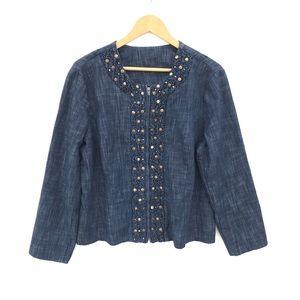 Jean Jacket ❤️ Full Front Zipper